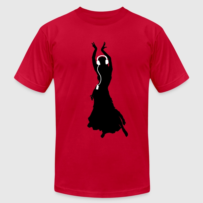 Flamenco dancing Dancing Queen Headphones - Men's Fine Jersey T-Shirt