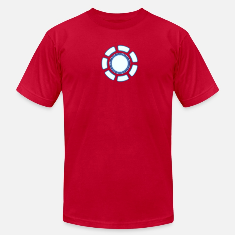 Tony T-Shirts - Arc reactor - Men's Jersey T-Shirt red