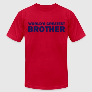 Worlds Greatest Big Brother World's greatest brother - Men's Fine Jersey T-Shirt