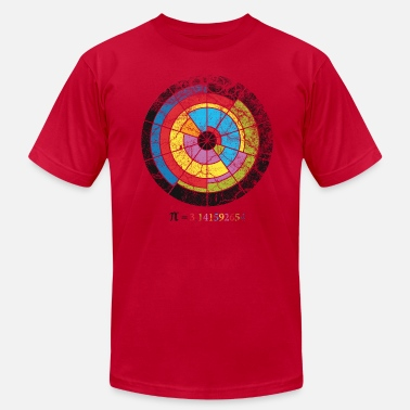 Pi Circle pi crop circle - Men's  Jersey T-Shirt