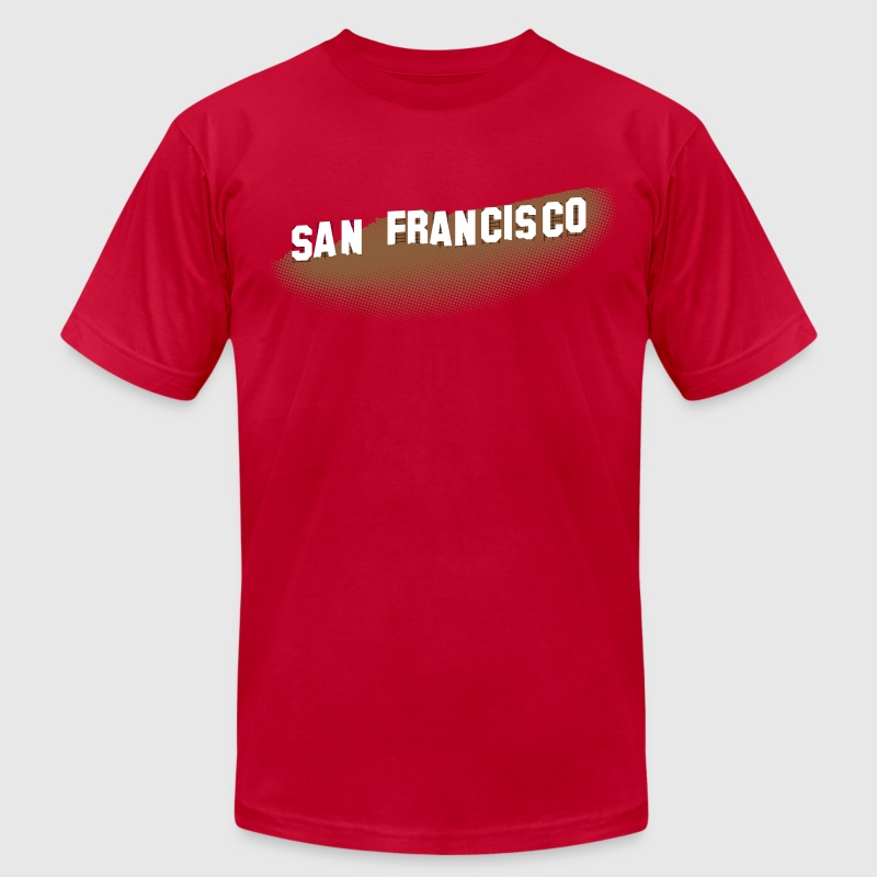San Francisco Hollywood Sign - Men's Fine Jersey T-Shirt