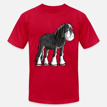 Shire Happy Shire Horse - Men's Jersey T-Shirt
