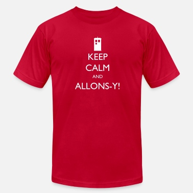 Allons Keep Calm and Allons-y!| Robot Plunger - Men's  Jersey T-Shirt