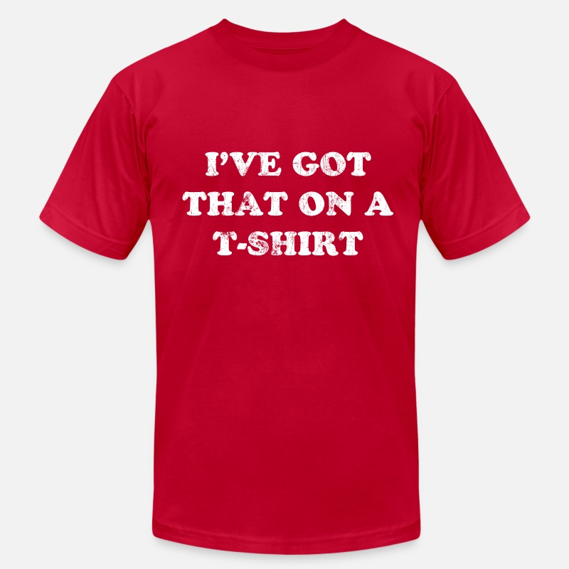 Quote T-Shirts - I've Got That On A T-Shirt | Robot Plunger - Men's Jersey T-Shirt red