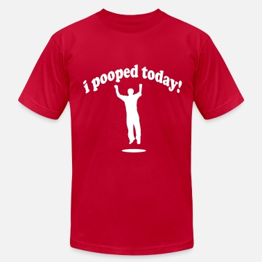 Poop Is Loading I Pooped Today! - Men's Jersey T-Shirt