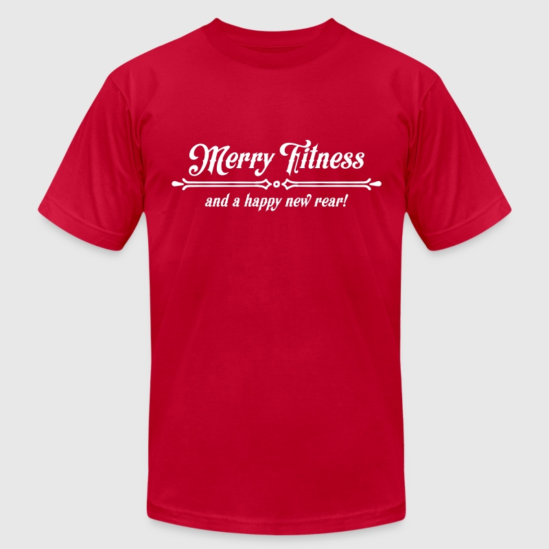 Merry Fitness And A Happy New Rear! - Men's Fine Jersey T-Shirt