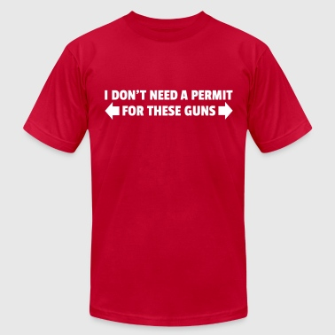 Guns Lifting Permit For These Guns - Men's Fine Jersey T-Shirt