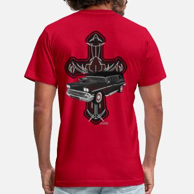 Hearse Hearse and Cross - Men's  Jersey T-Shirt