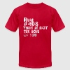 Rule # 408: Time Is Not The Boss Of You | Robot Plunger - Men's Fine Jersey T-Shirt