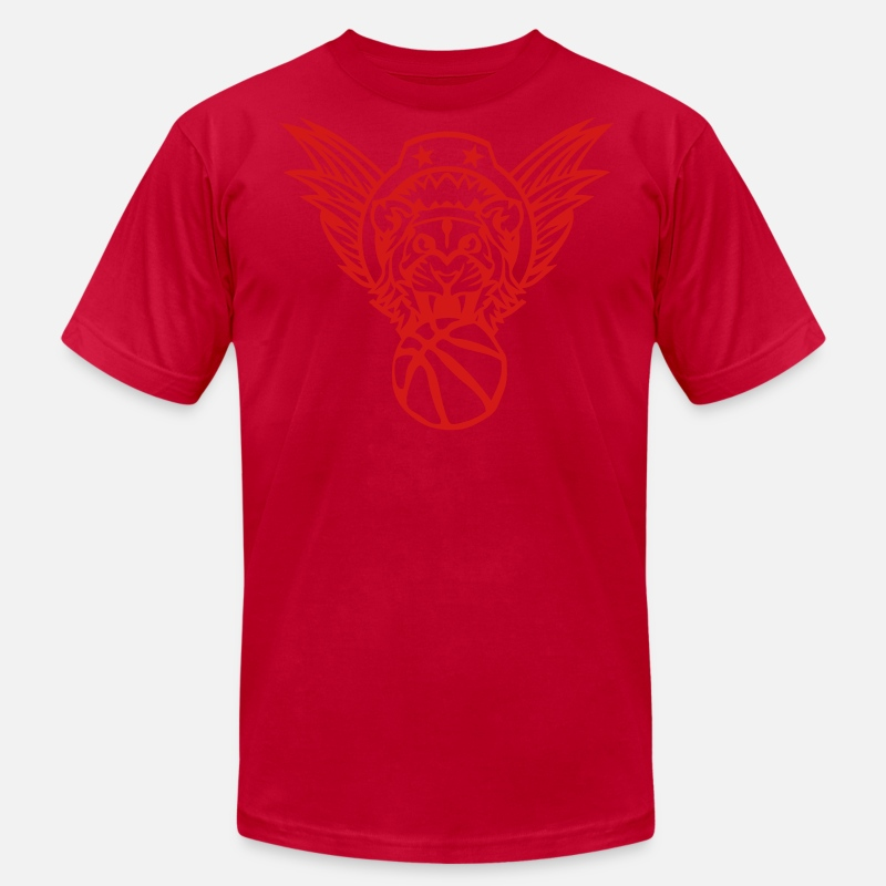 Basketball T-Shirts - wing lion basketball sports club logo 10 - Men's Jersey T-Shirt red