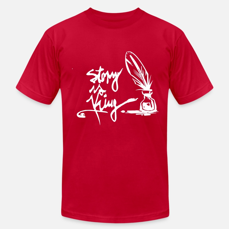 Set T-Shirts - Story is King - Men's Jersey T-Shirt red