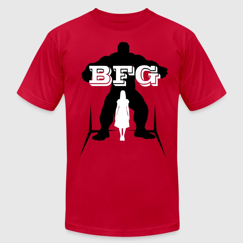 BFG Female Shadow (Big Friendly Giant) - Men's Fine Jersey T-Shirt