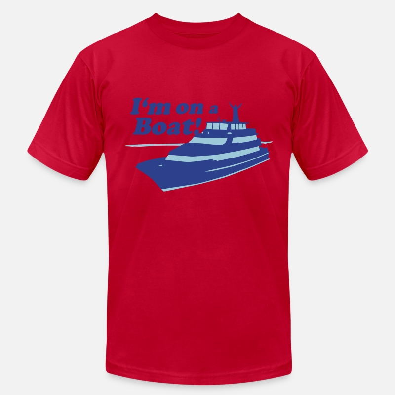 Gangsta T-Shirts - I'm On A Boat - Men's Jersey T-Shirt red