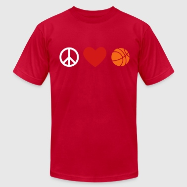 peace, love, basketball - Men's Fine Jersey T-Shirt