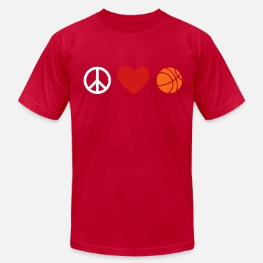 Peace Love And Basketball peace, love, basketball - Men's  Jersey T-Shirt