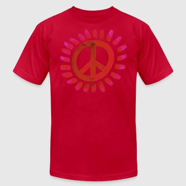 peace_red - Men's Fine Jersey T-Shirt