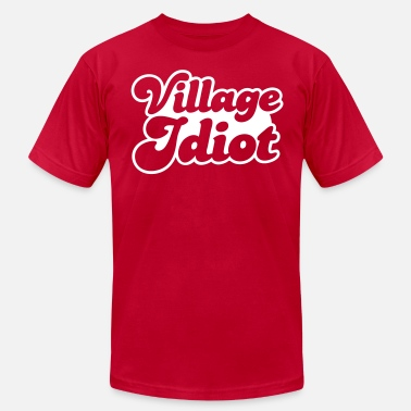 Village VILLAGE IDIOT - Men's  Jersey T-Shirt