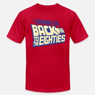 Back To The Future Back To The Eighties - Men's Fine Jersey T-Shirt