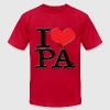 I Love PA - PAin (for light-colored apparel) - Men's Fine Jersey T-Shirt