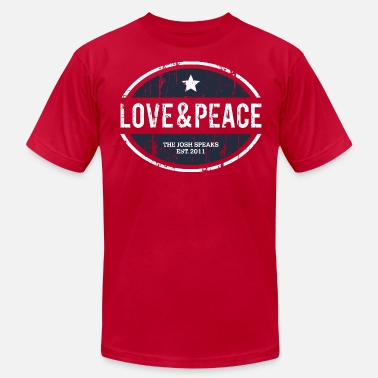 Love & Peace from The Josh Speaks T-Shirt - Men's  Jersey T-Shirt