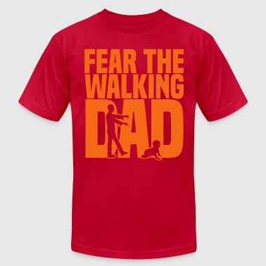 Fear Walk fear the walking dad - Men's Fine Jersey T-Shirt