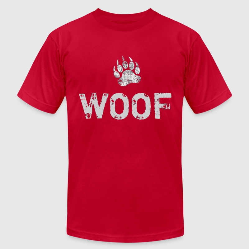 Gay Bear Pride distressed Bear Paw WOOF - Men's Fine Jersey T-Shirt