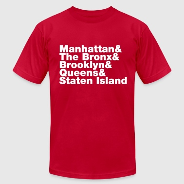 Five Boroughs ~ New York City - Men's Fine Jersey T-Shirt