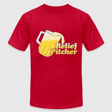 Relief Pitcher Beer Irish - Men's Fine Jersey T-Shirt