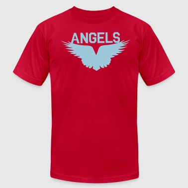 angels with beautiful wings flying - Men's Fine Jersey T-Shirt