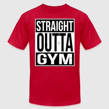 N.w.a Straight Outta Gym - Men's Fine Jersey T-Shirt