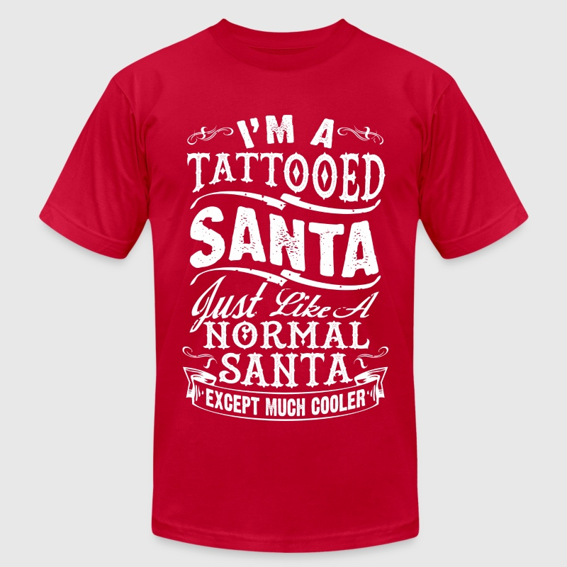TATTOOED SANTA2 - Men's Fine Jersey T-Shirt