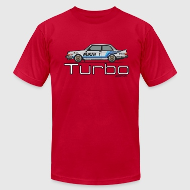 242 Turbo Racing Group A (Blue/White Livery) - Men's Fine Jersey T-Shirt