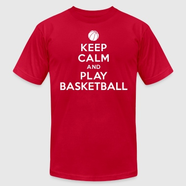 Keep calm and play Basketball - Men's Fine Jersey T-Shirt