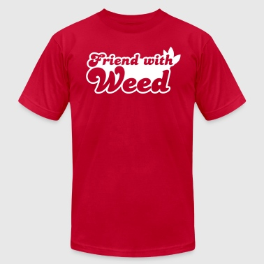 Hashish Friend with WEED - Men's Fine Jersey T-Shirt