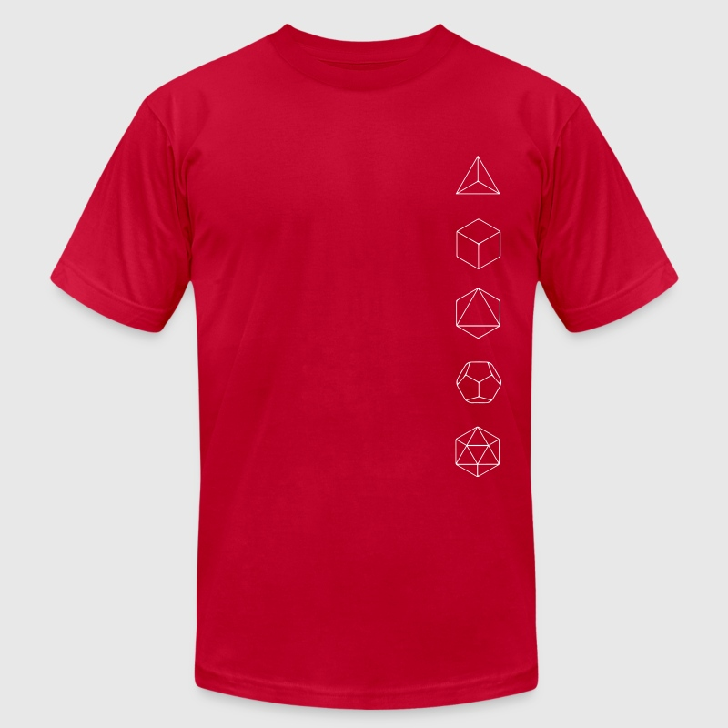 Platonic Solids, Sacred Geometry, Evolution - Men's Fine Jersey T-Shirt