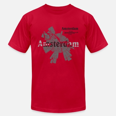 Map Amsterdam Map - Men's Jersey T-Shirt