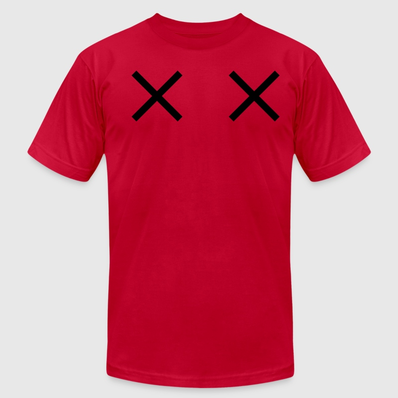 two crosses dead cartoon eyes - Men's Fine Jersey T-Shirt