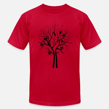 Blue Monkey Monkey Tree - Men's  Jersey T-Shirt