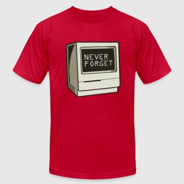Never Forget Retro Computer  - Men's Fine Jersey T-Shirt