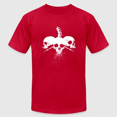 Spatter skulls white version - Men's Fine Jersey T-Shirt