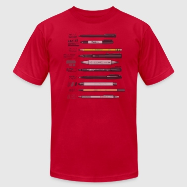 Pen Collection For Basic Sketching (Transparent) - Men's Fine Jersey T-Shirt
