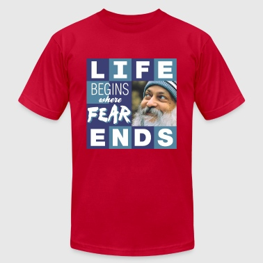 LifeBeginsWhereFearEnds - Men's Fine Jersey T-Shirt