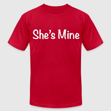 Shes Mine she's mine - Men's Fine Jersey T-Shirt