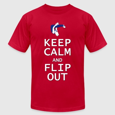 Keep Calm And Do Gymnastics Keep Calm and Flip Out - Men's Fine Jersey T-Shirt