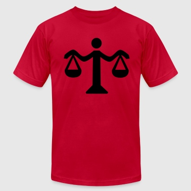 Lawyer Scale Scale - Lawyer - Men's Fine Jersey T-Shirt