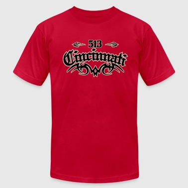Cincinnati 513 - Men's Fine Jersey T-Shirt