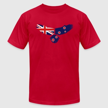 Eagle - New Zealand Flag - Men's Fine Jersey T-Shirt