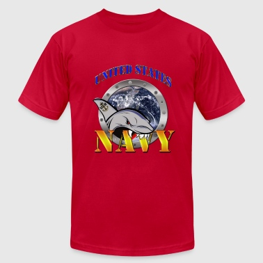 US Navy Shark - Men's Fine Jersey T-Shirt