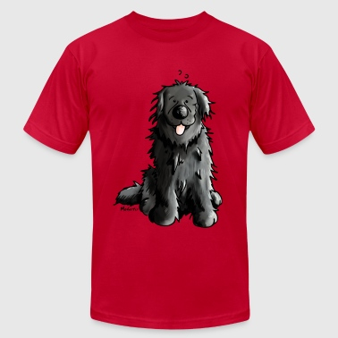 Newfoundland - Dog - Dogs - Newfi - Newf - Cartoon - Men's Fine Jersey T-Shirt