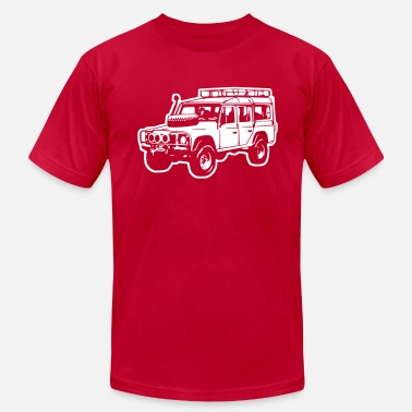 Land Rover Defender Desert (diff. color) - Men's Fine Jersey T-Shirt